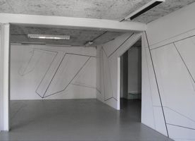 Gertrud Genhart, Basel - Wandzeichnung Chelsea Galerie, 2013